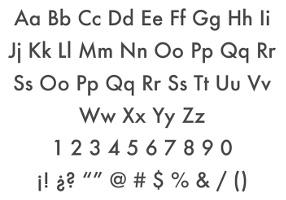 Tipografía acento