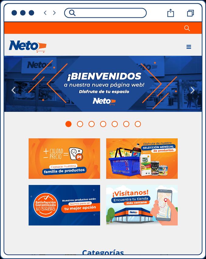 Sitio web versión móvil responsive
